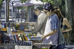 "'Browsing: Madrid' by Kevin Barnett (24""x20"") Oil -  £95  - Contact kebgas@icloud.com"