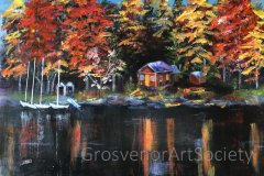 "'Lakeside Lodge' by Jean Millington (16""x20"") Oil -  £60  - Contact jeanmilli52@gmail.com"