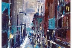 "'Rainy New York' by Monique Clifton (12""x9"") Acrylic -  £100  - Contact monanchorage@icloud.com"