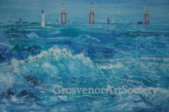 'New Brighton Waves' by Diana Baddeley