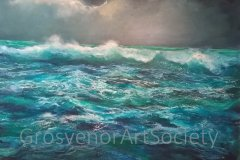 'Tropical Storm (white  box-framed)' by Susan Farrington