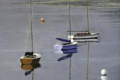 'Boats at Beaumaris' by Kevin Barnett