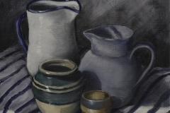'Still Life Pots and Jugs' by Kevin Barnett