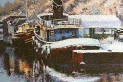 "'River Weaver' by Douglas Hutton - acrylic (12"" x 16"") £135 (framed)  - contact: douglashuttonart@gmail.com"