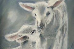 "'Playmates' by Jan Ibbotson - pastel (8"" x 11"")"