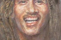 "'Bob Marley' by John Paskin - pastel (16"" x 13"") £ 220 - contact: barbara.paskin@talktalk.net"