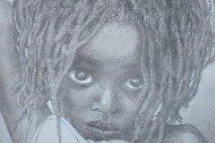 """'Mtoto' by Michael Horgan - pencil (11.5"""" x 15.5"""") £70  - contact: mkhorgan@aol.com"""