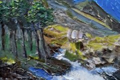 "'Ogwen Stream' by Pauline Horner - mixed media (12"" x 14"") £95 (framed)  - contact: phorner235@gmail.com"