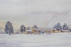 "'Snow in the Vale - after D. Bellamy' by Andrew Dailey - watercolour (15"" x 7.5"") £120 - contact: candadailey@gmail.com"