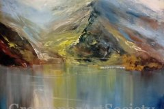 "'Snowdonia' by Sue Farrington - oil (24"" x 24"") £165 - faraway34@hotmail.com"