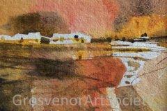 "'Sunset Creek' by Ali Lindley - watercolour (5.5"" x 5.5"")"