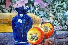 "'Blue Vase' by P. Parry - watercolour (10"" x 10"") £ 90 - contact: patriciaparry43@yahoo.co.uk"