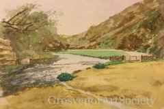 "'Dovedale' by Alan Wise - watercolour (14"" x 10"") £85 - contact: Alan.wise4@talktalk.net"