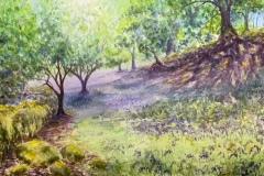 "'Bluebell Glade' by Karen Smeatham - watercolour (11"" x 7.5"") £92 - contact: karen.smeatham@btinternet.com"