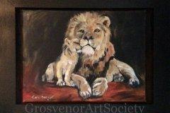 "'Proud' by Carol Dooley- acrylic (16"" x 21.5"") £240 (framed) - contact: doolcar@aol.com"