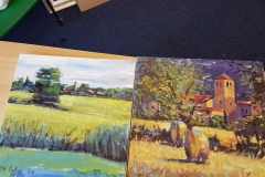 Robert Hughes demo and workshop paintings