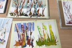 Member's artworks from Graham Thew's very popular workshop